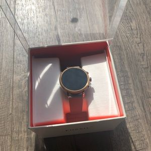 Rose Gold Fossil Touchscreen Smartwatch